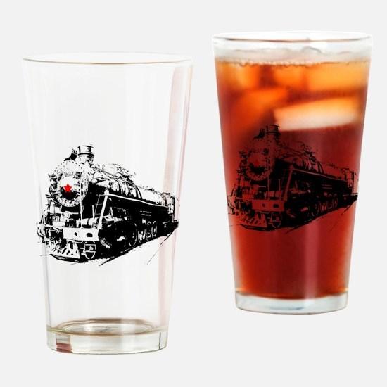 Russian Soviet Locomotive Rail Trai Drinking Glass