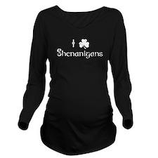 I Love Shenanigans Long Sleeve Maternity T-Shirt
