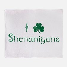 I Love Shenanigans (Green) Throw Blanket