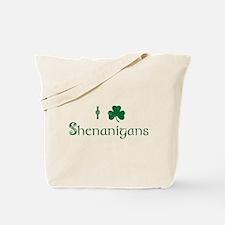 I Love Shenanigans (Green) Tote Bag