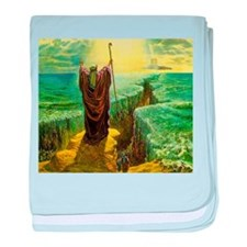 Moses MIracle at the Red Sea Israel P baby blanket