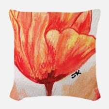 Floral Sketch Woven Throw Pillow