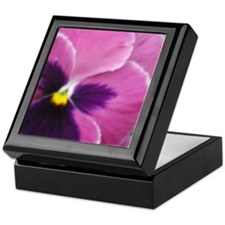 Purple Throated Pansy Keepsake Box