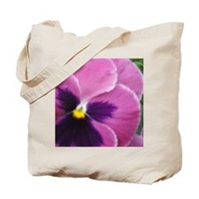 Purple Throated Pansy Tote Bag