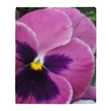 Purple Throated Pansy Throw Blanket
