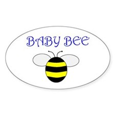 Baby Bee Oval Decal