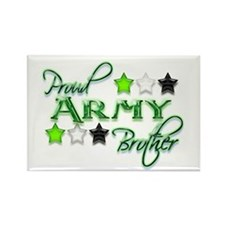 Army Star Brother Rectangle Magnet