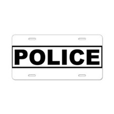 Police Aluminum License Plate