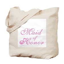 Sheer Elegance Pink Maid of Honor Tote Bag