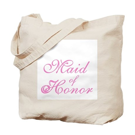 Sheer Elegance Pink Maid of Honor Tote Bag