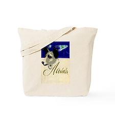 Laika Dog Cosmonaut USSR Space Poster Sov Tote Bag
