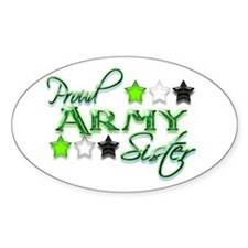 Army Star Sister Oval Decal