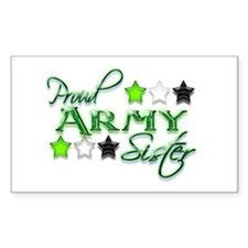 Army Star Sister Rectangle Decal
