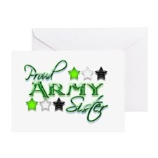 Army Star Sister Greeting Card