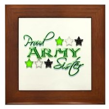 Army Star Sister Framed Tile