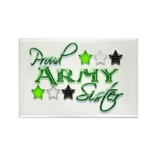 Army Star Sister Rectangle Magnet