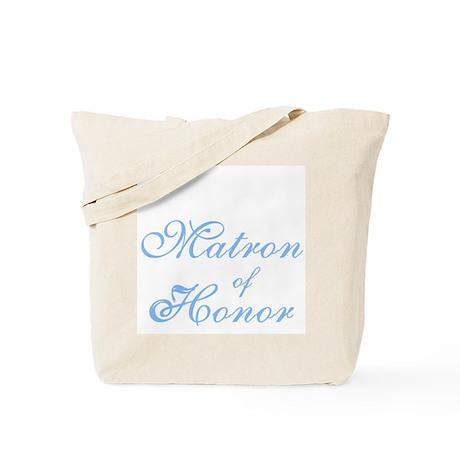 Matron of Honor Blue Elegant Text Tote Bag