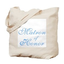 Matron of Honor Blue Elegant Text Tote Bag
