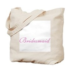 Bridesmaid Elegant Pink Text Tote Bag