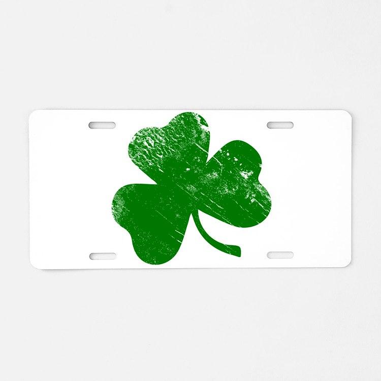 Shamrock (Green) Aluminum License Plate