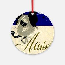 Laika Dog Cosmonaut USSR Space Po Ornament (Round)