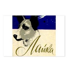 Laika Dog Cosmonaut USSR Postcards (Package of 8)