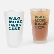 Wag More Bark Less Drinking Glass