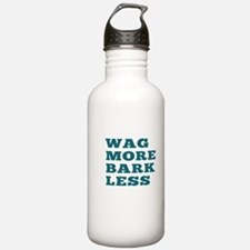 Wag More Bark Less Water Bottle