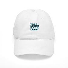 Wag More Bark Less Baseball Baseball Cap