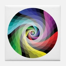 Rainbow Swirl Tile Coaster