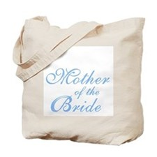 Mother of the Bride Blue Elegant Text Tote Bag