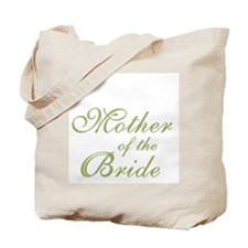 Mother of the Bride Green Text Tote Bag