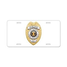 Police Badge Aluminum License Plate