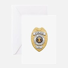 Police Badge Greeting Cards