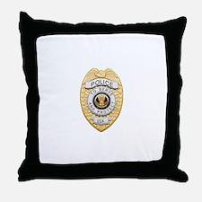 Police Badge Throw Pillow