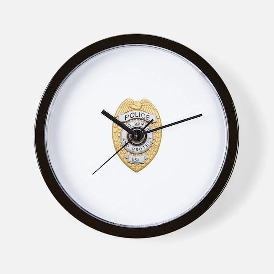 Police Badge Wall Clock
