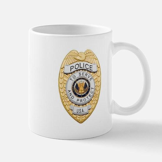 Police Badge Mugs