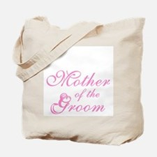 Mother of Groom Pink Elegant Text Tote Bag