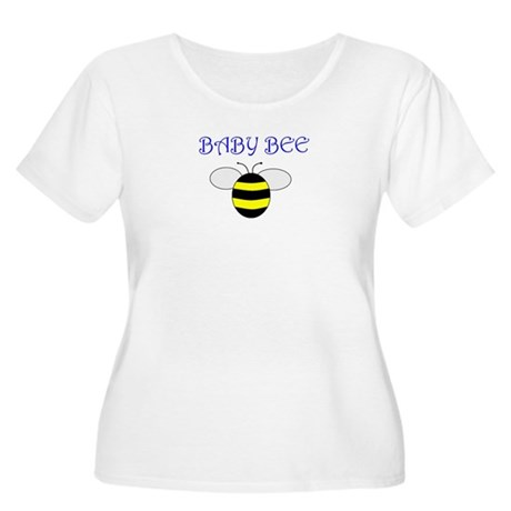 BABY BEE Women's Plus Size Scoop Neck T-Shirt