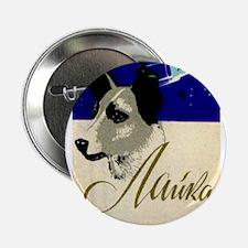 "Laika Dog Cosmonaut USSR Sp 2.25"" Button (10 pack)"