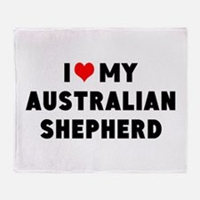 I LUV MY AUSTRALIAN SHEPHERD Throw Blanket