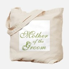 Mother of Groom Green Elegant Text Tote Bag