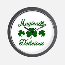 Magically Delicious Shamrock Wall Clock