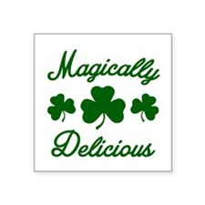 """Magically Delicious Shamroc Square Sticker 3"""" x 3"""""""