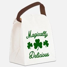 Magically Delicious Shamrock Canvas Lunch Bag