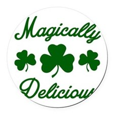 Magically Delicious Shamrock Round Car Magnet