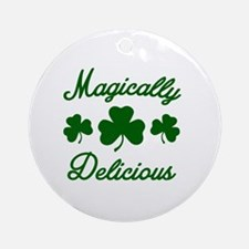 Magically Delicious Shamrock Round Ornament