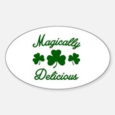 Magically Delicious Shamrock Sticker (Oval)