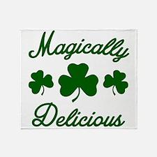 Magically Delicious Shamrock Throw Blanket