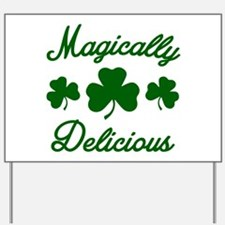 Magically Delicious Shamrock Yard Sign